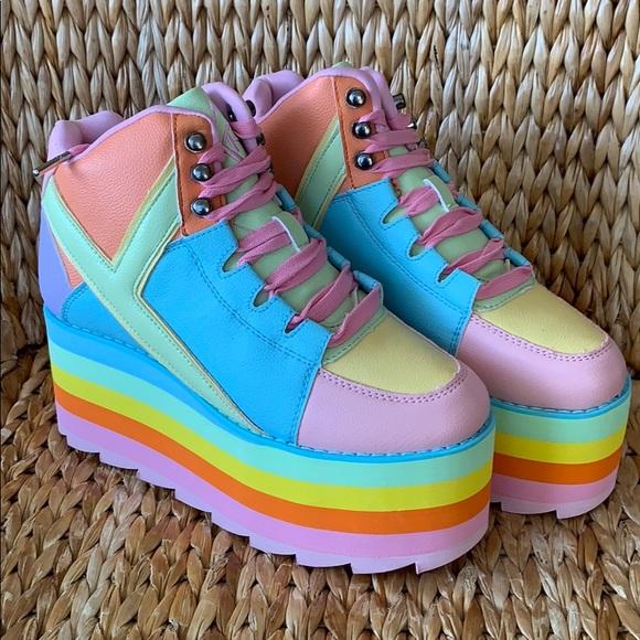 Nib Yru Qozmo Pastel Platform Sneakers